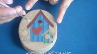2-3 Tutorial Pintura Country Casitas Pintura Decorativa - Pintura Facil Para Ti