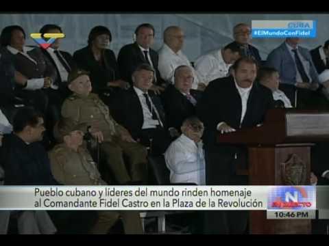Discurso de Daniel Ortega en el homenaje a Fidel Castro tras su fallecimiento