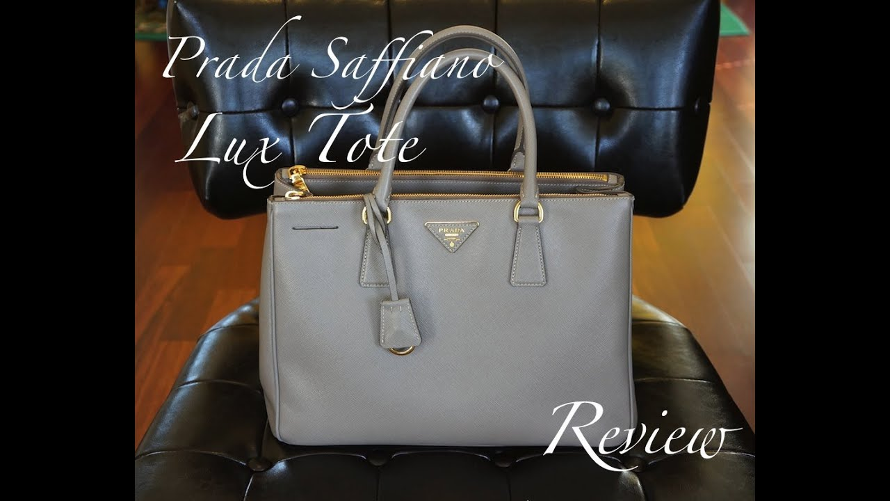 Prada Saffiano Lux Tote Review - YouTube