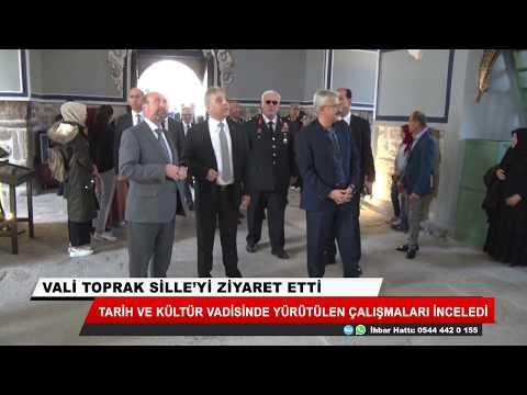Konya Valisi Cüneyit Orhan Toprak Sille'yi ziyaret etti