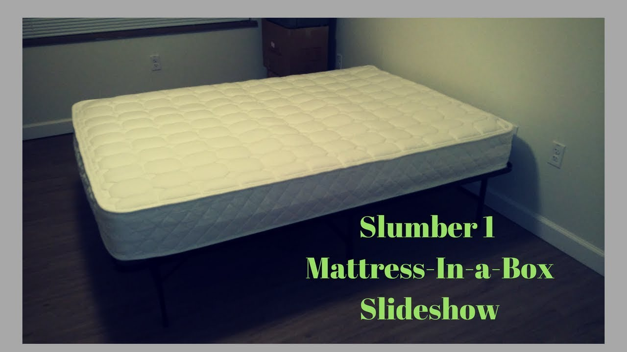 Slumber 1 8 Mattress In A Box And Spa Sensation Steel Smart Base Bed Frame
