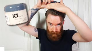 Ersteindruck idHair Extreme Titanium Haarwachs  Test Männer Haarstyling