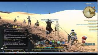 FFXIV ARR Big Fishing First Catch of  Olgoi-Khorkhoi - Lucied