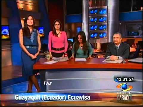 Temblor de 6.9 en vivo por TV - Ecuavisa - Ecuador 12-08-10