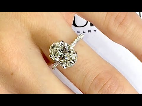 3 Carat Oval Diamond Engagement Ring YouTube