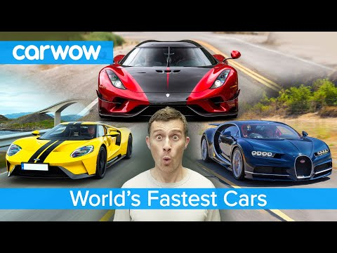 Bugatti Chiron, Koenigsegg Regera, Ford GT – here are the fastest cars in the world!