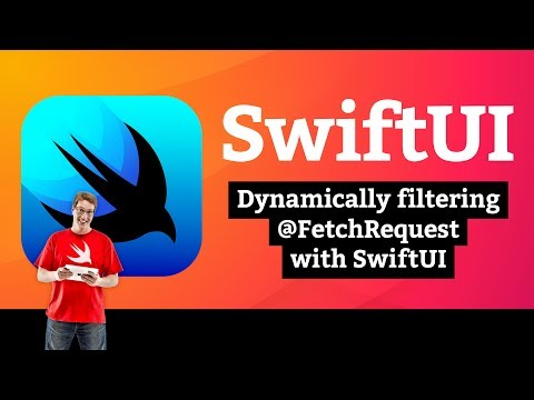 Dynamically filtering @FetchRequest with SwiftUI – Core Data SwiftUI Tutorial 6/7 thumbnail