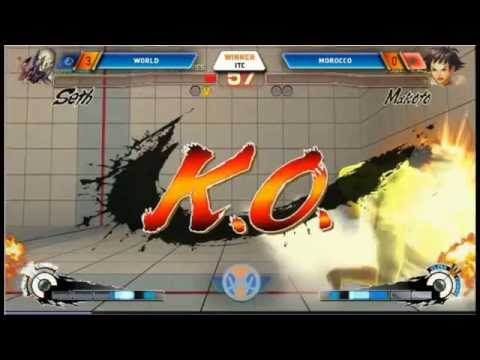 Team Morocco vs team INT (world) CANNES WINTER CLASH USF4 Ultra Street Fighter 4