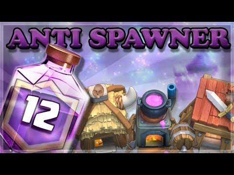 BEST Anti Spawner Rage Challenge Deck  | Clash Royale 🍊