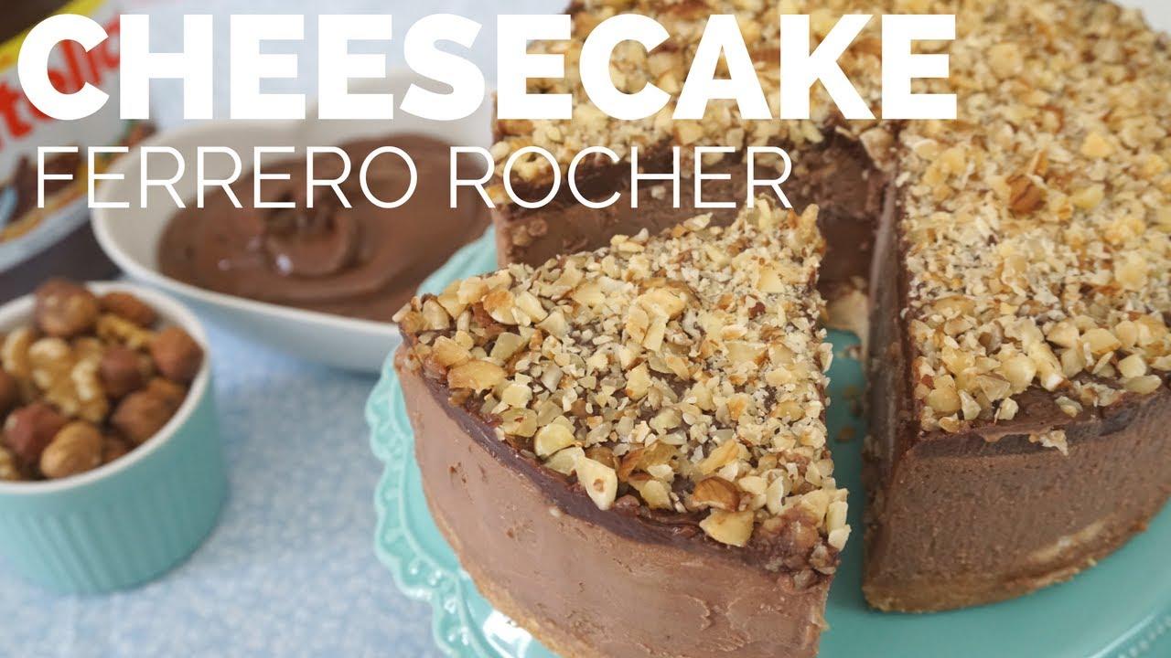 Ben noto CHEESECAKE FERRERO ROCHER (Torta fácil de NUTELLA, com MUITA  VS98