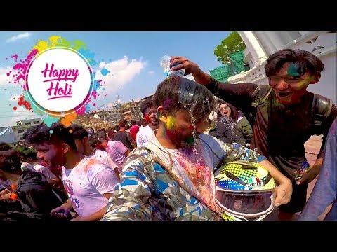 HOLI AND BASANTAPUR 2019 KATHMANDU NEPAL