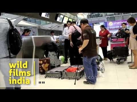 Check-in counters at Suvarnabhumi Bangkok Airport