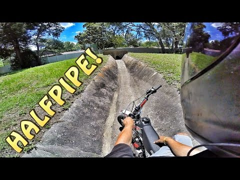 Pit Bike Adventures | Finding Halfpipe Ditch!!