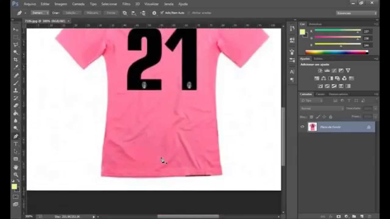 5a06be4953f6d Criando template de camisa de futebol no Photoshop - YouTube