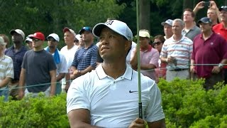 Tiger Woods birdies last three out of four holes at Quicken Loans