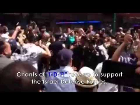 Spontaneous Pro-Israel Rally Erupts in Response to Protestors