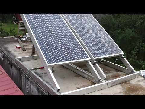 How I Mounted Solar Panels to my Shipping Container for Cheap!