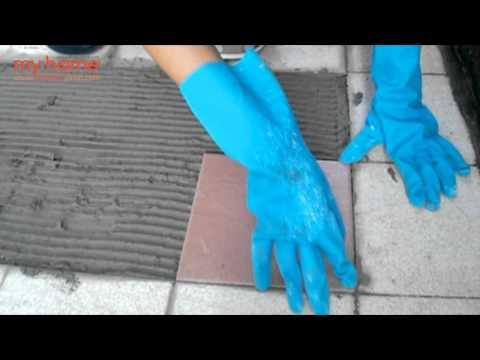ซ่อมพื้นกระเบื้องหลังน้ำท่วม
