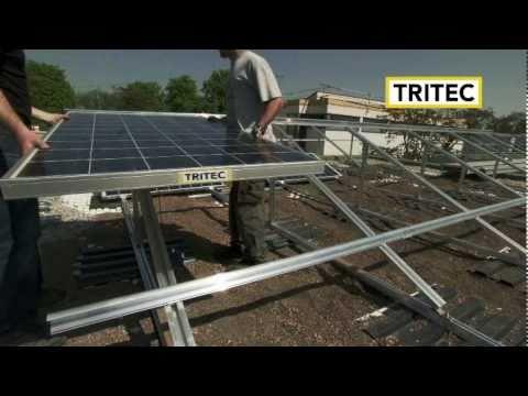 Tri stand sistema di montaggio di pannelli solari per for Piani passivi di case solari