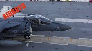 AV-8B Harrier On USS Kearsarge (LHD-3)