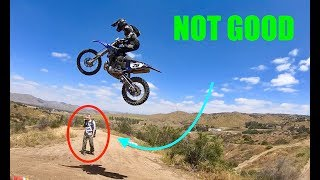 His First Time Jumping *FAIL*!! (Lands On His BF)