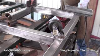 24 Of 27: Welding The Mobile Base Wheel Brackets -- Diy Biesemeyer Style Guide Rail Series