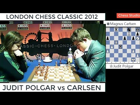 CARLSEN vs  JUDIT POLGAR | LONDON CHESS CLASSIC 2012