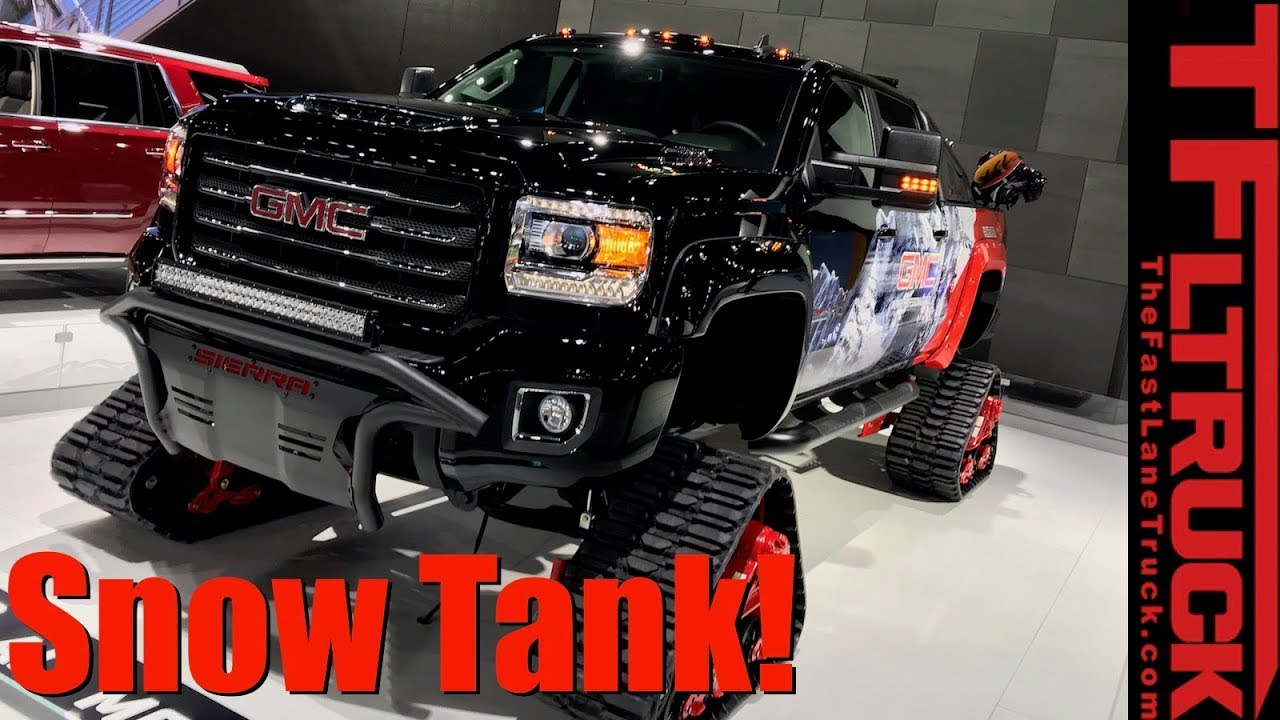 Gmc Diesel Trucks >> Tank Diesel Truck With Tracks Gmc Sierra 2500 Hd All Mountain La