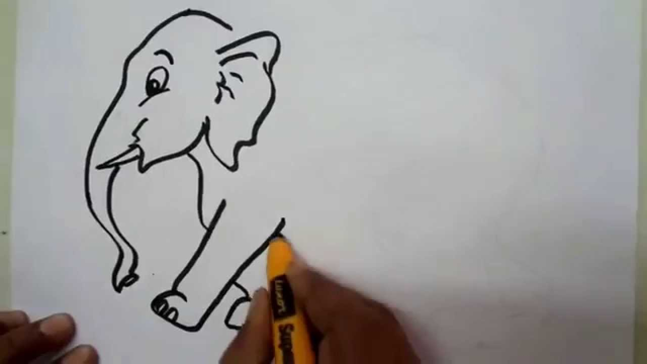 How to draw an elephant youtube how to draw an elephant ccuart Images
