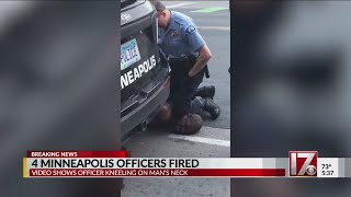 4 Minneapolis officers fired after death of man with knee on his neck