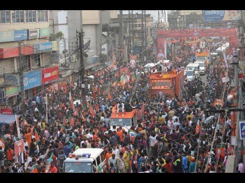 BJP National President Shri JP Nadda's massive roadshow in Bardhaman, West Bengal   9 Jan 2021