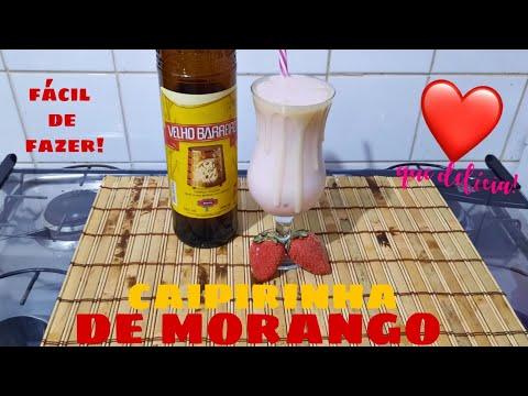 CAIPIRINHA DE MORANGO!
