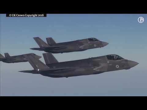 F-35 stealth fighter jet lands at Norfolk