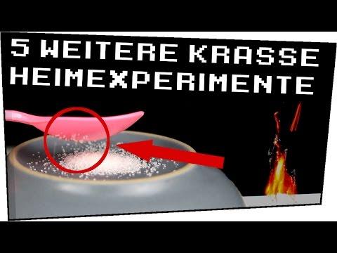 5 weitere Experimente für zuhause! - Heimexperimente #54