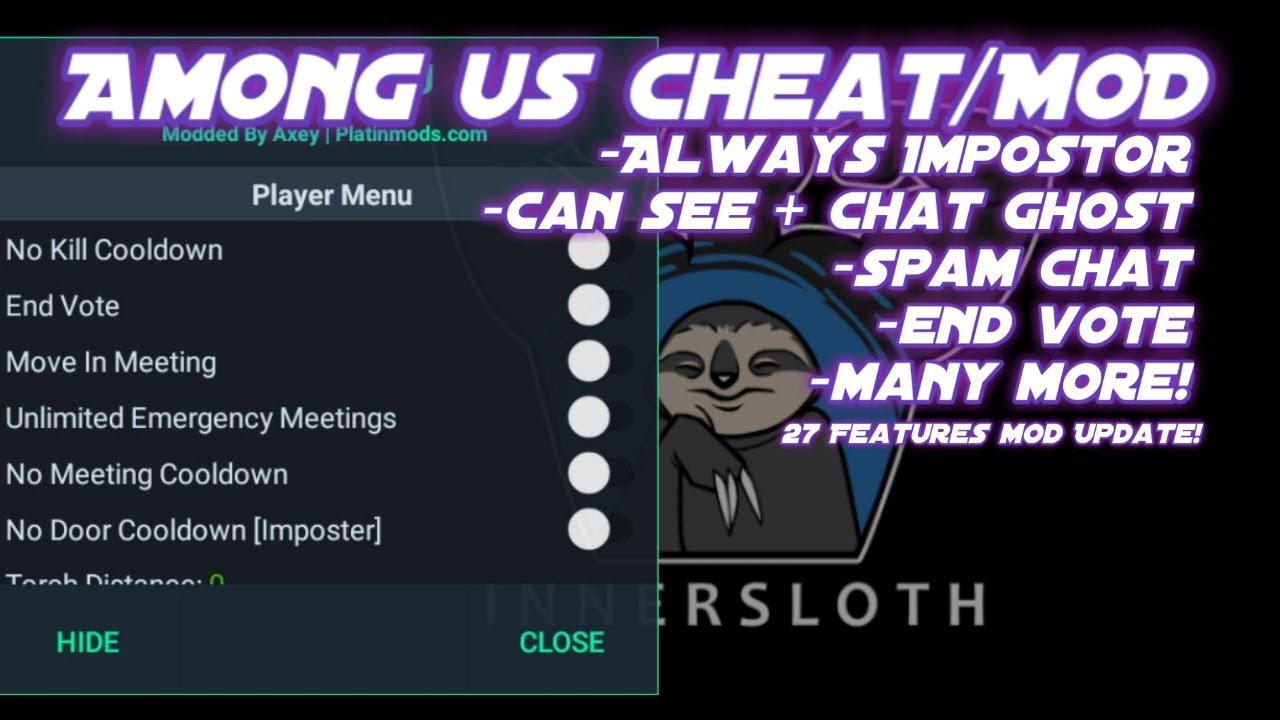 Mod Among Us Update 27 Features Always Impostor Spam Chat Can See Chat Ghost And More Youtube