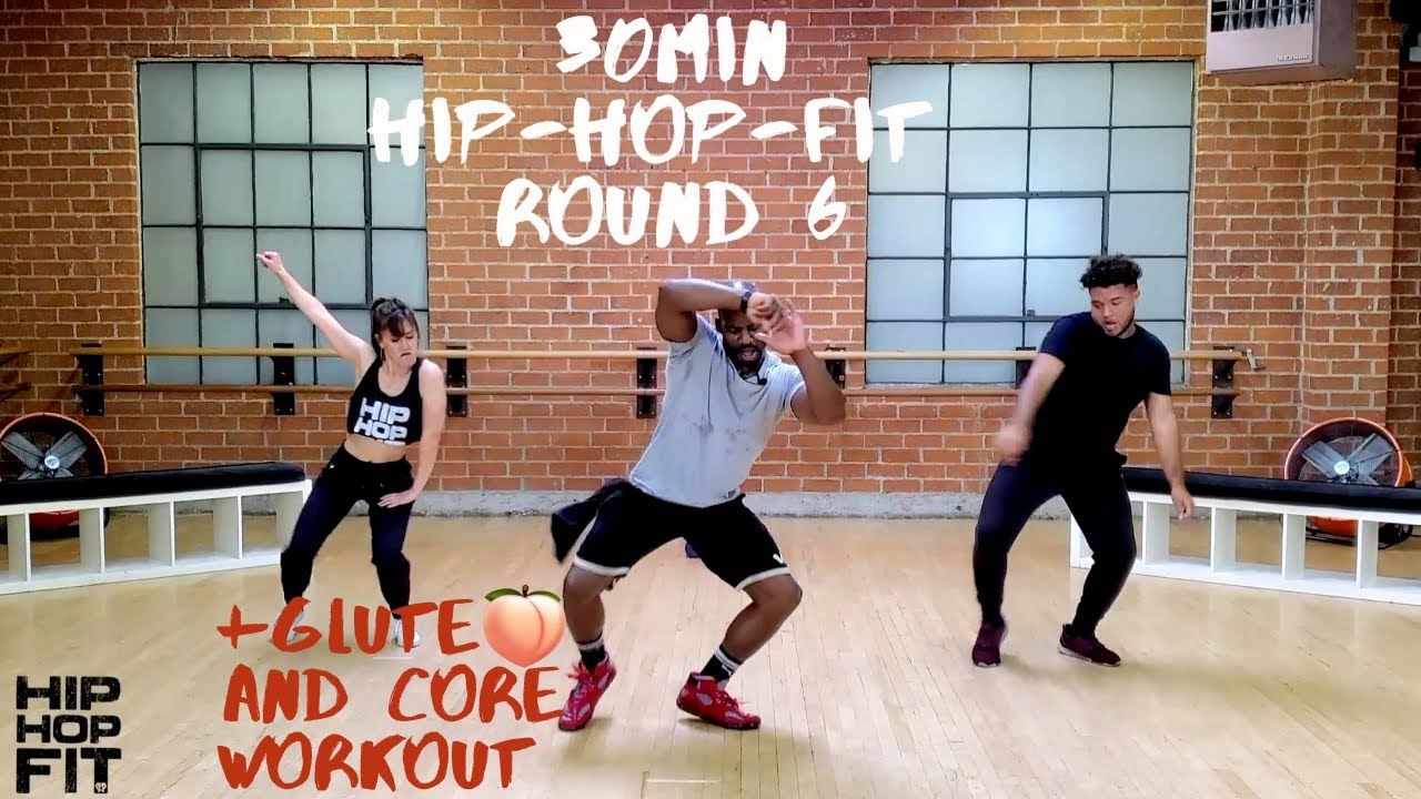 30min Hip-Hop Fit Dance Workout + Glute ? & Core exercises Round 6 | Mike Peele
