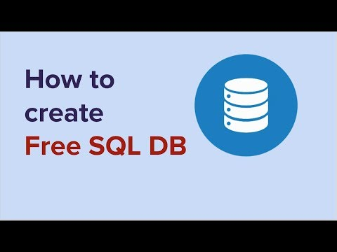 How To Create Free SQL Database For Testing