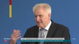 Pressekonferenz mit Horst Seehofer zum Gesetzentwurf zu sicheren Herkunftsstaaten am 18.07.18