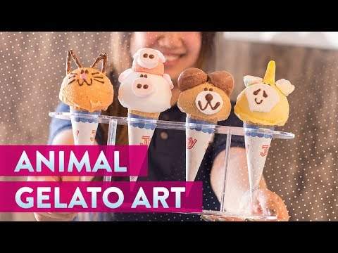 Animal Art at Eiswelt Gelato | Genius Kitchen