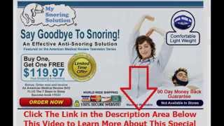 how can l stop snoring | Say Goodbye To Snoring