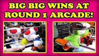 Crazy UFO CATCHER wins at Round 1 Arcade! Having a BLAST with DRAGON CLAW GAMES |