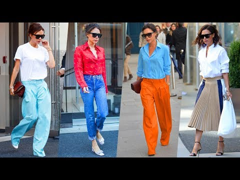 Victoria Beckham's Hairstyle, Casual Style, Street Style & Outfits - 2018