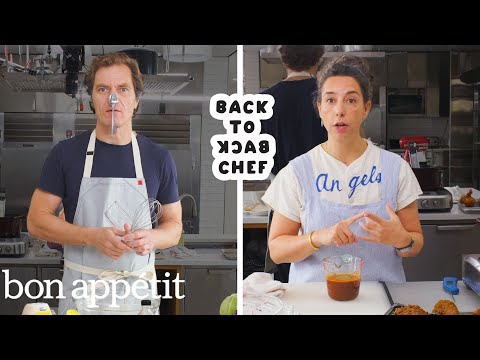 Michael Shannon Tries to Keep Up With a Professional Chef | Back-to-Back Chef | Bon Appétit