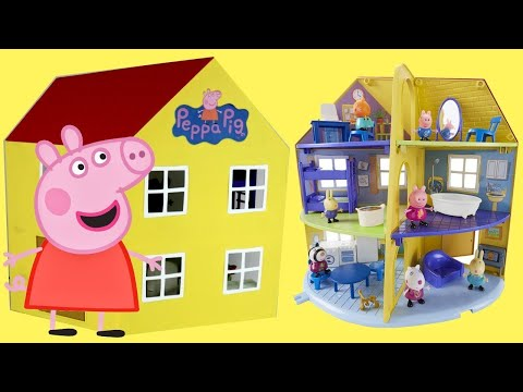 Nick Jr. New Peppa Pig Family Home Playset with Furnitures & George Pig Toy Figures