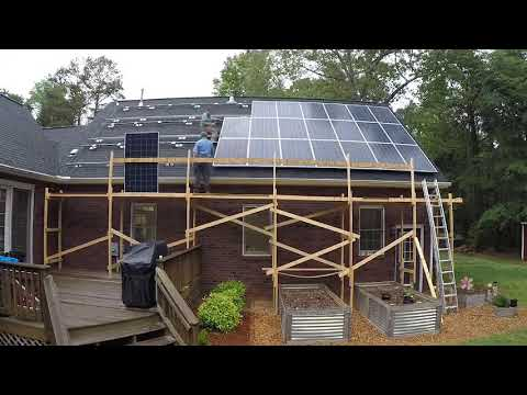 Customer DIY Solar Installation (Timelapse)