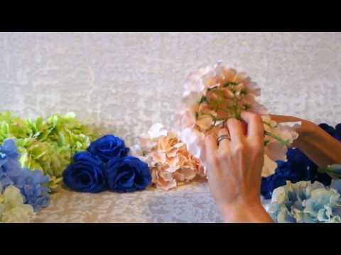 Мастер класс изготовление композиции из искусственных цветов /The composition on the guest tables