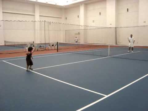 Tennis Training With Daddy @ AL DANA Tennis Court - Indoor Court