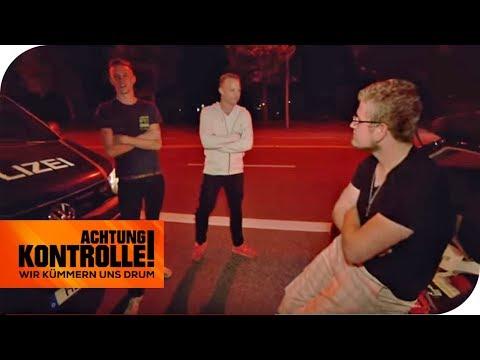 Jugendlicher Leichtsinn: Sie versuchen, die Polizei zu provozieren! | Achtung Kontrolle | kabel eins