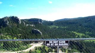 Panoramic 360 degree view from the top of Crazy Horse Memorial in S...