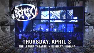 STYX and HEAD EAST live at The Lerner Thursday, April 3rd, 2014